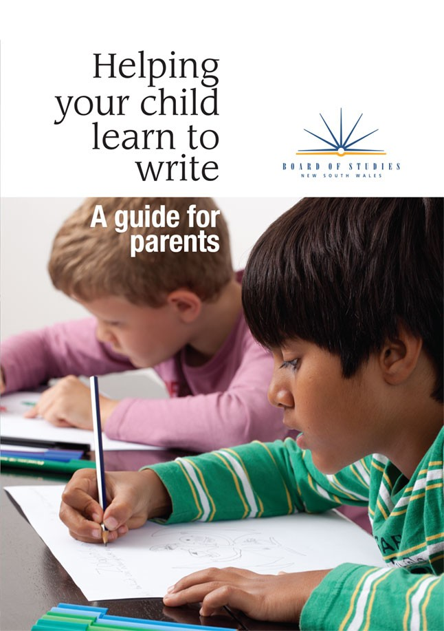 Helping your child learn to write.